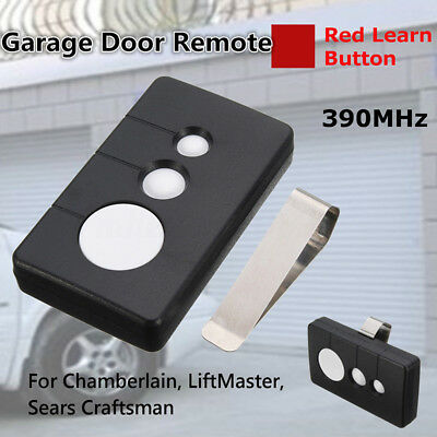 1x 390MHz Garage Door Opener Visor Remote Control key Work For Sears Craftsman