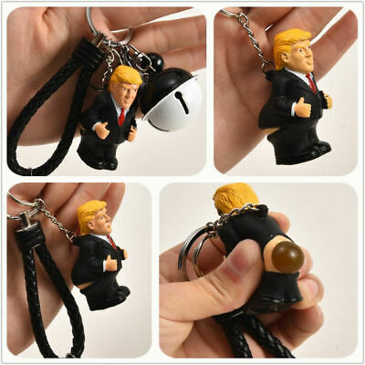 Novelty Donald Trump Poop Keyring President Squeeze Funny Key Chain Accessories
