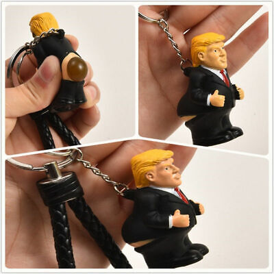 New Creative Donald Trump Poop Keyring President Squeeze Funny Key Chain