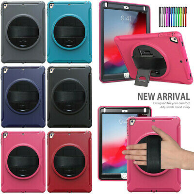 Shockproof Rotating Hard Case W/Hand Strap for iPad Air/Air2/Pro9.7/6th Gen 2018