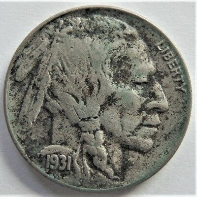 1931s UNITED STATES, Buffalo Nickel grading VERY FINE.