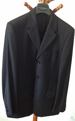 Calvin Klein Collection Men's Suit 3 Buttons Black Made in Italy US 36R