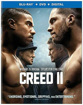 Creed II (Blu-ray/DVD/digital, 2019) NEW Michael B. Jordan, Sylvester Stallone
