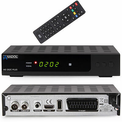 Anadol digitaler Kabel Reciever 202c Plus DVB-C C2 Full HD SCART