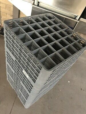 Dishwasher racks / trays for pass through / commercial dishwasher/ Glass Flutes