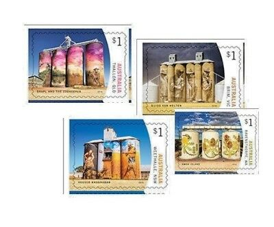 > 2018 SILO ART, 4 P&S FRANKED ON PAPER Australian Stamps