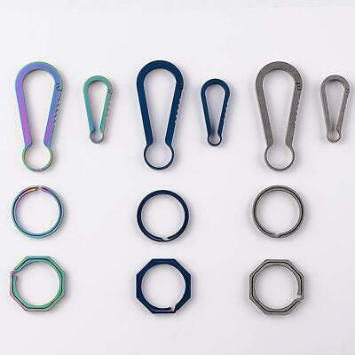 Titanium Alloy Outdoor Camping Carabiner Keychain Hanging Buckle Snap Hooks S/L*
