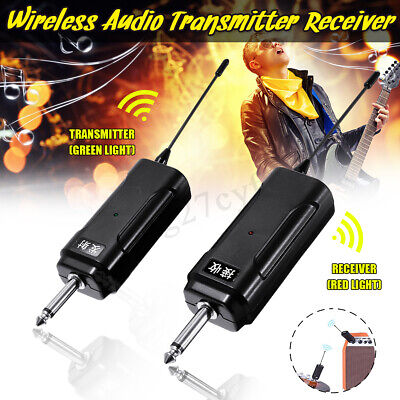Wireless Audio Transmitter Receiver System for Electric Guitar Violin