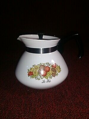 """Vintage Corning Ware Teapot """"Le The"""" P-104 6 Cup"""