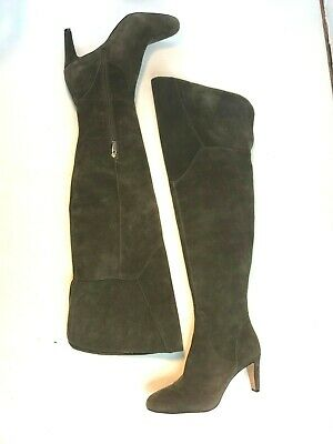 b2de659ea89 Vince Camuto Womens Size 8 Gray Over the Knee Suede Heeled Boots Never Worn