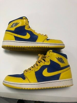 cheap for discount 76313 4b61d 2013 Nike Air Jordan 1 Retro High OG Laney Blue Yellow 555088-707 Size 12