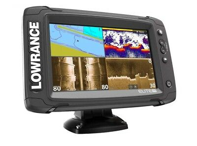 Lowrance Elite-7 Ti Mid/High/TotalScan Sonar/GPS Combo Touchscreen w/Transducer