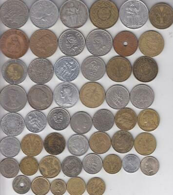 51 Different French Colonial Coins 1886-1999 Many Countries,france  G47