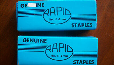 2 Boxes of Rapid Staples 26/6