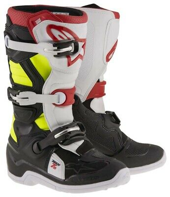 Alpinestars Tech 7s crosslaarzen Kids zwart wit rood