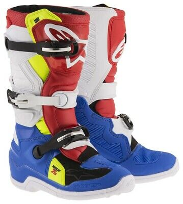 Alpinestars Tech 7s crosslaarzen Kids blauw wit rood