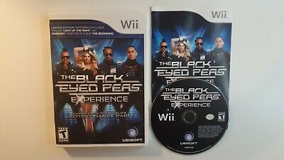 THE BLACK EYED PEAS EXPERIENCE - Nintendo Wii COMPLETE - FAST FREE SHIPPING