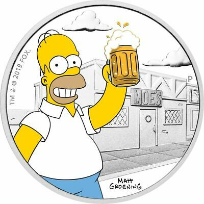 🌟 The Simpsons Homer 2019 1oz Silver Proof Coin 🌟 (LIMITED to 5000)