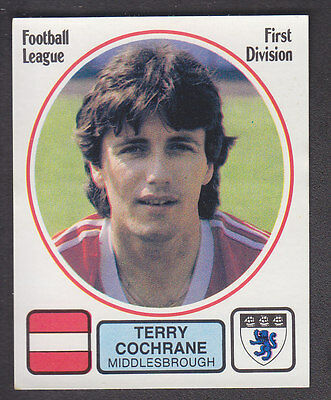 Panini - Football 82 - # 181 Terry Cochrane - Middlesbrough