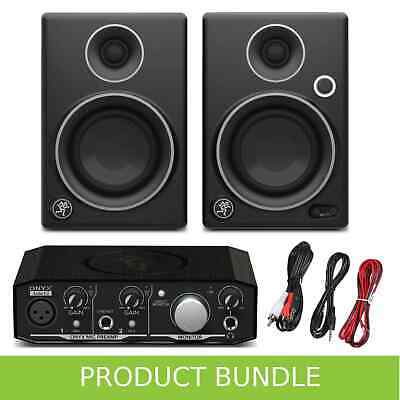 Mackie CR3 Limited Edition and Onyx 1.2 Artist Home Studio Recording Bundle