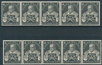 [E16220] Luxembourg 1953 good lot of 10 stamps very fine MNH $140