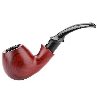 Tobacco Pipe Classic Ebony Wood Tobacco Smoking Pipes Filter Wooden Smoke Gift