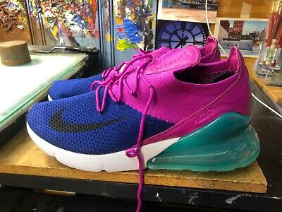 timeless design 9d228 ee334 Nike Air Max 270 Flyknit Royal Blue Fuchsia Size US 12.5 Men s AO1023 401  New