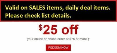 Staples Coupon $25 off $75 Expires 3/24 Online/Phone*Valid on SALES daily deals