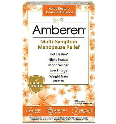Amberen Multi-Symptom Menopause Relief Clinically Tested 60 Capsules