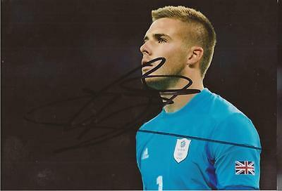TEAM GB & STOKE: JACK BUTLAND SIGNED 6x4 ACTION PHOTO+COA *LONDON 2012*