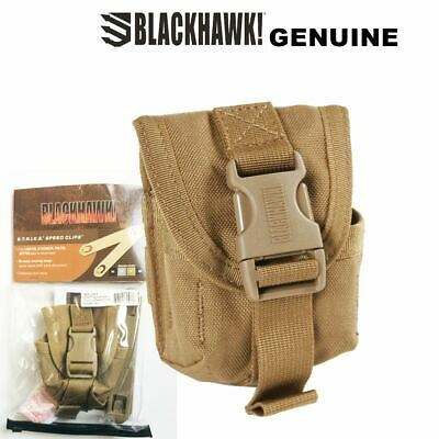 Blackhawk Strike Speed Clip Single Frag Grenade Pouch Tactical Coyote Tan New