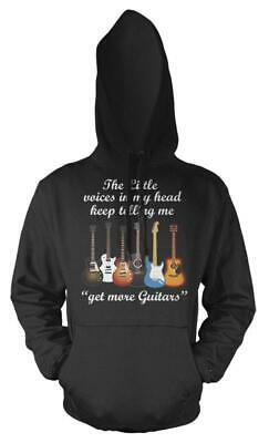 Selection Of Guitars Base Electric Acoustic  Adults Hoodie