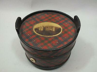 "A Tartan / Mauchlinware /  Treen  3 Spool Cotton Dispenser ""inverarray"" 19Thc"