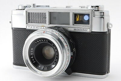 **Excellent** Yashica Minister 35mm Rangefinder Camera Yashinon 45mm f/2.8 #118