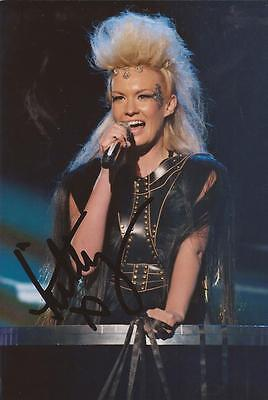X FACTOR: KITTY BRUCKNELL SIGNED 6x4 SEXY LIVE PHOTO+COA