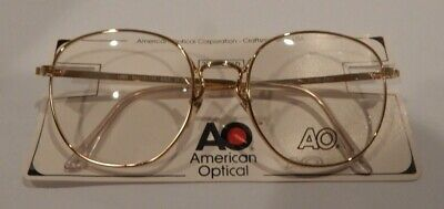 Vintage American Optical Liner Gold 54/18 22K GP Eyeglass Frame NOS  #299