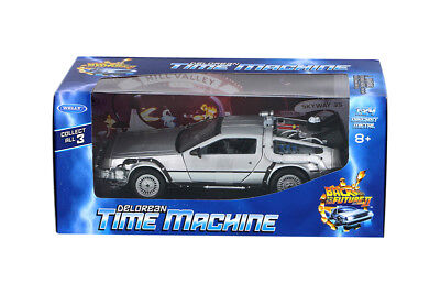 1:24 Back To The Future Delorean Ii Time Machine Welly Diecast Car Nib