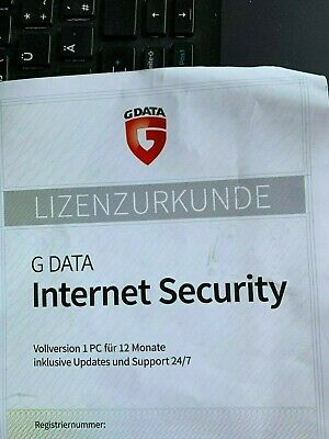 G DATA INTERNET Security 2019 1PC Deutsch - 12 Monate GData