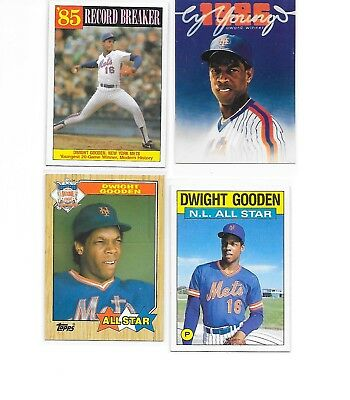 "(4) Dwight ""DOC"" Gooden Cards (Asst.Years & Makers) -  Nice (Dr. ""K"") Cards"