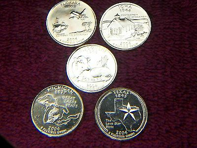 24K 5 GOLD PLATED STATE QUARTERS 2004-P uncirculated #3