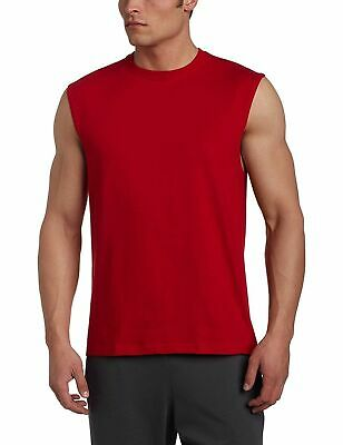 NEW Russell Athletic Mens Essential Muscle Tee Workout Tank T-Shirt True Red XL