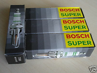 Set of 4 BOSCH SUPER 7581 Spark Plugs for FORD ESCORT FOCUS CAVALIER SUNFIRE S10