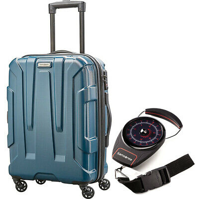 """Samsonite Centric Hardside 28"""" Luggage Teal with Luggage Scale"""
