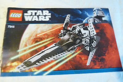 Lego star wars 7915 imperial v-wing starfighter notice uniquement