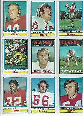 TOPPS - San Francisco 49ers American Football NFL Trading Cards x12