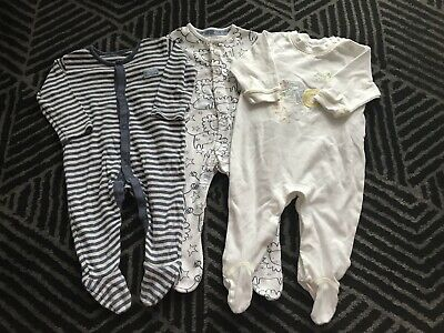 Baby Boys Sleepsuits Babygrows Playsuits 3-6 Months