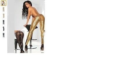 Sexy Lochbody Hose in gold! wetlook Lack/Leder-Optik Gr. M gold!
