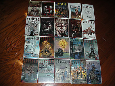 Crossed 209 Book Lot 35 Bk Signed 45X T-Shrt Button & Crd~Horror-Gore~Wrap-Tort