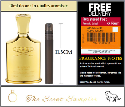 Millesime Imperial by Creed 10ml sample - FREE REGISTERED (tracking & insurance)