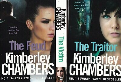 Kimberley Chambers 3 Book Set: Thriller Feud Victim Traitor, New Paperbacks